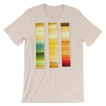 Vintage Color Thesis Swatches T-shirt Artistic Graphic Tee Artist Gift