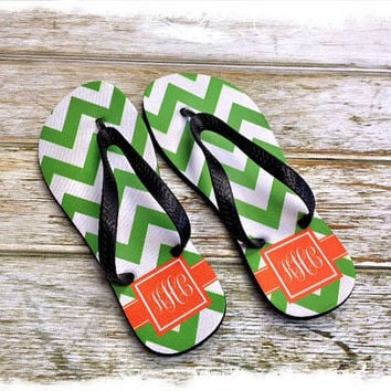 Personalized Womans Flip Flops DESIGN YOUR OWN by rrpage on Etsy