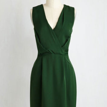 Mid Length Sleeveless Sheath Pining For From ModCloth Formal