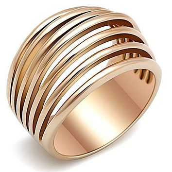 WildKlass Stainless Steel Minimalists Ring IP Rose Gold(Ion Plating) Women