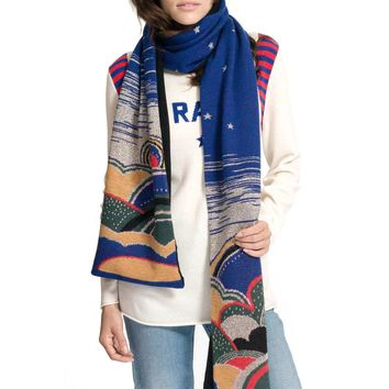 REPLICA LOS ANGELES - Women's Celestial Jacquard Scarf - Lapis/Multi
