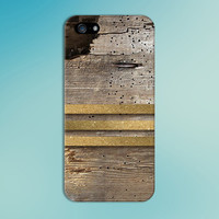 Worn Wood x Triple Gold Stripe Design Case for iPhone 6 6 Plus iPhone 5 5s 5c iPhone 4 4s Samsung Galaxy s6 s5 s4 & s3 and Note 4 3 2