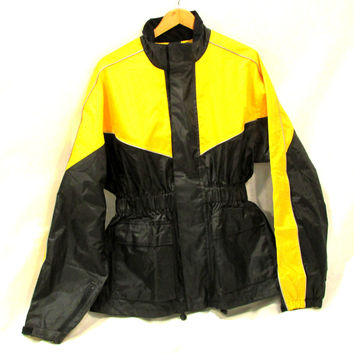 Sturgis Motorcycle Rain gear 2pc Saftey Yellow & Black New set