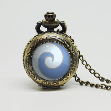 Vintage Glass Pocket Watch Necklace with Inspired Avatar: The Last Airbender (Choose one)