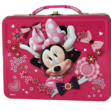 Minnie Mouse Hot Pink Tin Lunch Box