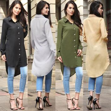 VON7TL Long Sleeve Shirt Summer Women's Fashion Chiffon Jacket [10016923597]