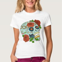 Sugar Skull with Roses, Day of the Dead, T-shirt