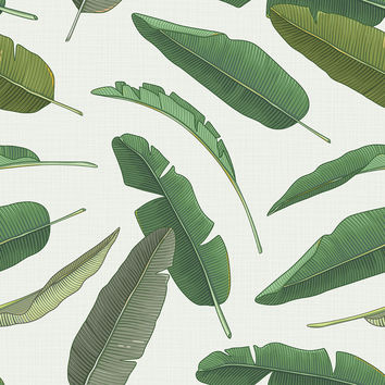 Banana Leaf Removable Wallpaper