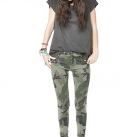 Evelyn Army Print Pants