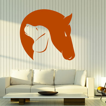 Wall Vinyl Decal Dog and Horse Friendship Love Animals Home Interior Decor Unique Gift z4673