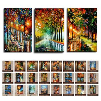 High Quality 3D Multiple Style Multicolor Modern Knife Oil Painting On Canvas Abstract Landscape Wall Art Home Decor For Gift