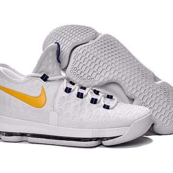 Nike KD 9 shoes White Yellow