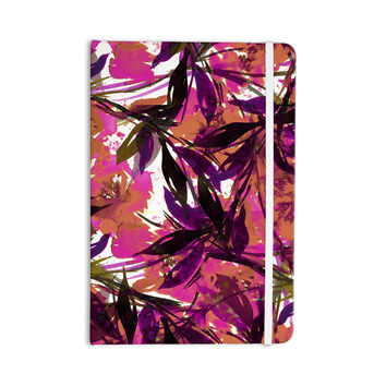 "Ebi Emporium ""Floral Fiesta Pink Plum"" Watercolor Painting Everything Notebook"