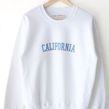 California Oversized Sweatshirt - White