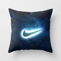 nike-galaxy Throw Pillow by Max Jones | Society6