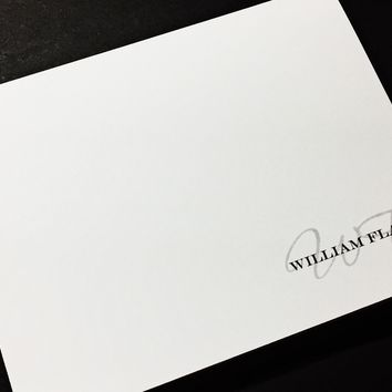 Personalized Business Stationery Note Cards Set, Personalized Stationary - Set of 12 Cards