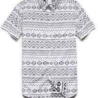 Reverse Tribal Print Shirt