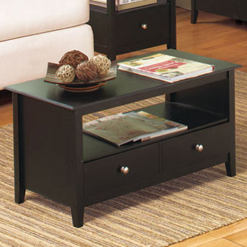 1 - Contemporary Black Espresso Coffee Table Living Room Furniture Home Decor
