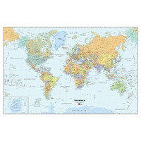 World Map Wall Decal Kit | Dorm Room Decor | OCM.com