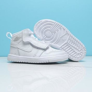 Air Jordan 1 White Toddler Kids Shoes - Best Deal Online