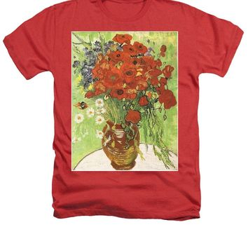 Vincent Vang Gogh Poppies With Daisies - Heathers T-Shirt
