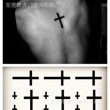 Tattoo Sticker Body Art waterproof temporary  3d cross