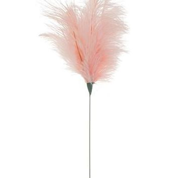 "Ostrich Feather Spray in Pastel Pink - 14"" Tall"