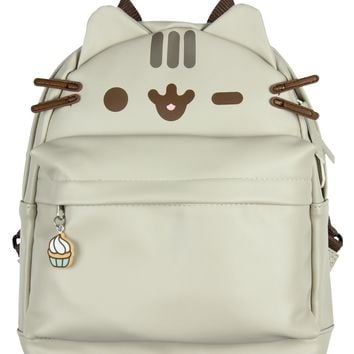 Pusheen Cat Face Mini Backpack with 3D Ears and Whiskers