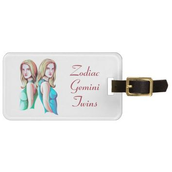 Zodiac Gemini Twins Sign Luggage Tag