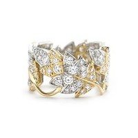 Tiffany & Co. -  Schlumberger Four Leaves ring in 18k gold with diamonds.