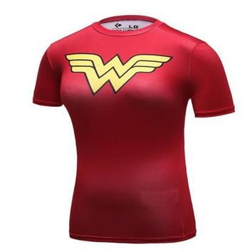 New Arrival Cool Style DC Comics Superhero Wonder Women T Shirts 3D Printed Bodybuilding Brand T-shirt Ladies Compression Tops