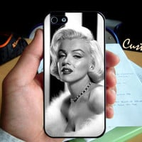 Georgeous Marilyn Monroe  - Photo Hard Case design for iPhone 4/4s Case, iPhone 5 Case, Black or White ( Choose Option )