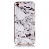 Gray White Marble Stone Case for iPhone 7 7Plus & iPhone 6s 6 Plus Cover
