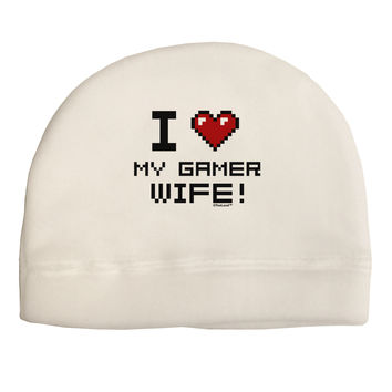 I Heart My Gamer Wife Child Fleece Beanie Cap Hat