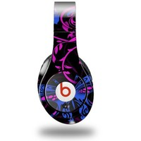 Twisted Garden Hot Pink and Blue Decal Style Skin (fits ORIGINAL Beats Studio Headphones - HEADPHONES NOT INCLUDED)