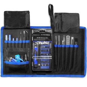 Ohuhu Screwdriver Set 77-IN-1 Precision Magnetic Driver Kit Professional Repair Tool Kit Screwdriver Kit with Flexible Shaft for iPhone 8/ 8 Plus/ iphone X/ Cellphone/ Tablet/ PC/ Camera Blue