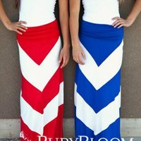Thick Chevron Convertible Maxi Dress/Skirt
