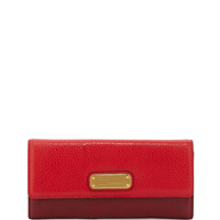 New Q Continental Wallet, Rosey Red Multi - MARC by Marc Jacobs