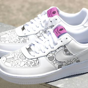 Nike AIR FORCE 1xTakashi Murakami Women/Men Sport Shoes Casual Sneakers