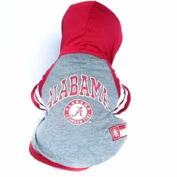Alabama Crimson Tide Dog Hoddie Shirt NCAA Officially Licensed Pet Product