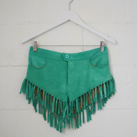Cowgirl Dreams Tassel Shorts - Turquoise | Spell & the Gypsy Collective