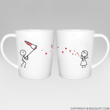 Catch My Love™ Couple Coffee Mugs