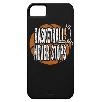 Basketball never stops iPhone SE/5/5s case