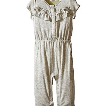 IKKS Jersey Jumpsuit with Ruffles/Snap Front with Cat/Pineapple Graphic on Back Snaps Up (Infant)