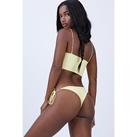 Marla Side Tie Bikini Bottom - Yellow