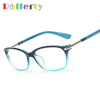 Ralferty Cat Eye Glasses Frame With Clear Lens, Female Myopia Optic Frames Eyeglasses Women Plain Mirror oculos de grau 0059