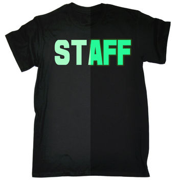123t USA Men's Glow In The Dark Staff Front & Back Workwear T-Shirt