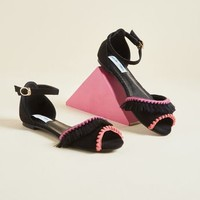 Roam Frilly Peep Toe Flat