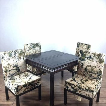 Selig Furniture Mid-Century Modern Style Five Piece Dining Set