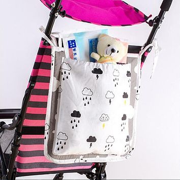 Baby Stroller Organizer Carriage Bag Children's Storage Pockets Hanging Pushchair Milk Bottle Holder Toy Diaper Bag